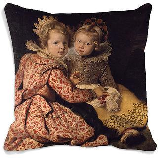 meSleep Girl Portrait 3D Cushion Cover (16x16)