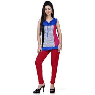 DesiButiks Maroon Coloured Cotton Lycra Leggings BBL1015