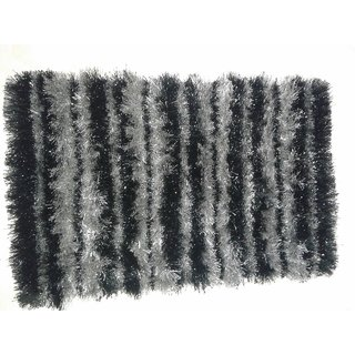 Akash Ganga BlackGrey Beautiful Floor Mat (M21)