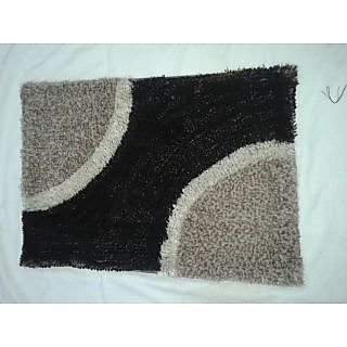 Akash Ganga Brown Beautiful Floor Mat (M24)