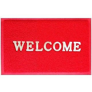 Akash Ganga Beautiful Red Welcome Mat (M26)