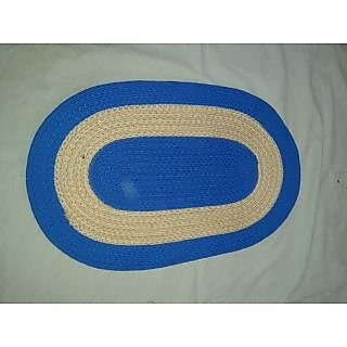Akash Ganga BlueCream Beautiful Floor Mat (M28)