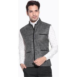 Akaas  Mens Gray Nehru Jacket