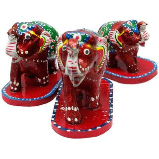 Paper Mache 3 Piece Elephant Home Decor Gift -111