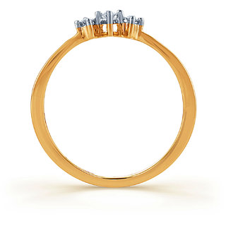Karatcraft Triad Diamond And Gold Ring  Gold Purity 18Kt.