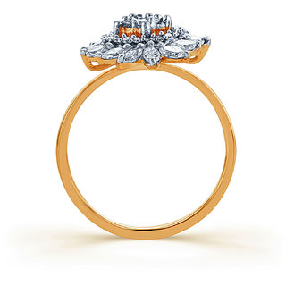 Karatcraft Kristall Diamond And Gold Ring  Gold Purity 18Kt.