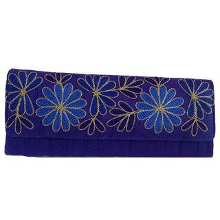 Maison Ethnic floral print clutch bag