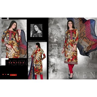 Fancy Vastra Printed casual wear salwar suit with dupatta