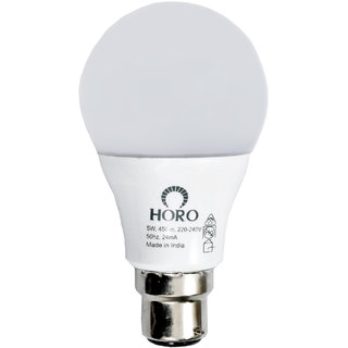 HORO 5 Watt LED Bulb Pack of 6 Bulbs