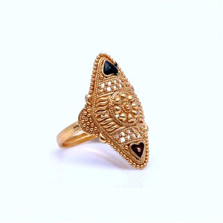 Gold Plated Pretty Designer Bridal Ring by GoldNera