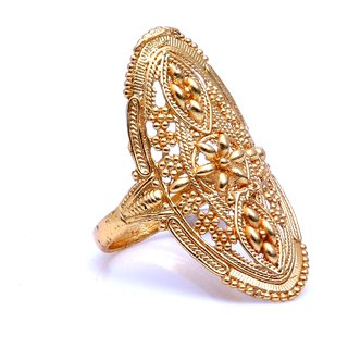 Gold Plated Intricately Designed Bridal Ring by GoldNera