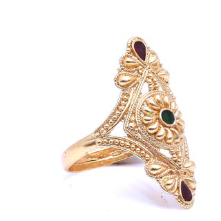 Gold Plated Ethnic look Bridal Ring by GoldNera