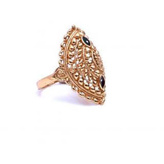 Gold Plated Designer Traditional Bridal Ring by GoldNera