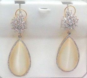 Mesmeric White Cz Chandelier Earring