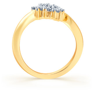 Karatcraft Three in a row Gold Purity 18Kt.