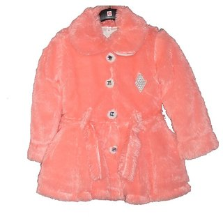 pink color fur blazer for winter season