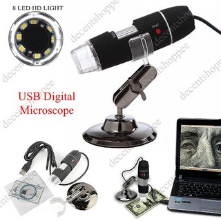 USB 8LED DIGITAL MICROSCOPE,  50X-500X,  2MP ENDOSCOPE MAGNIFIER VIDEO CAMERA