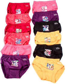 GIRLS INNERWEAR PRINT JETTY PACK OF 12