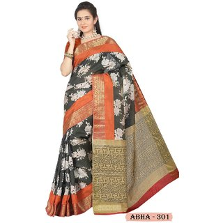 Rupal Faux Georgette Chiffon Printed Saree  easy wash light weight