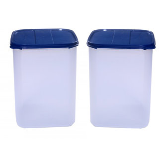Signoraware Modular Square Containers - Set of 2 (6500ml x 2) - Blue