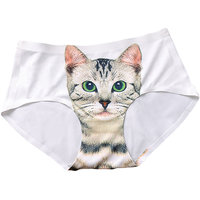 Pussycat Panties Women Sexy Hipsters Invisible 3D Cat Underwear