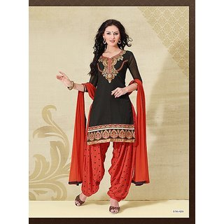 Cotton Georgette Self Design Semi-stitched Salwar Suit Dupatta Material