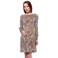 Oxolloxo Maternity Brown Dress