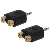3.5mm Stereo Male to 2 RCA Female Adapter/Connector/Converter/Y Splitter