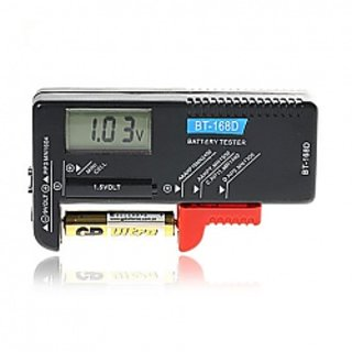 BT-168D Portable Digital Battery Tester-Black