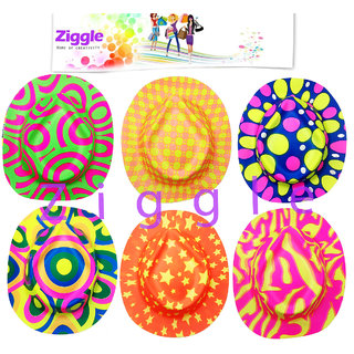 Ziggle party caps Cowboy caps printed caps party supplies birthday party Hats