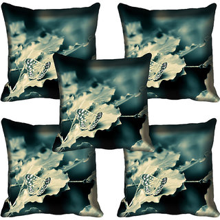 meSleep Floral Digitally Printed Cushion Cover (16x16)