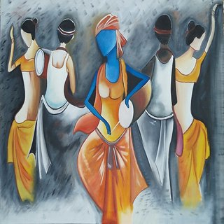 dance painting on canvas