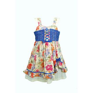 Euphoria Party wear Yellow/Blue Dress