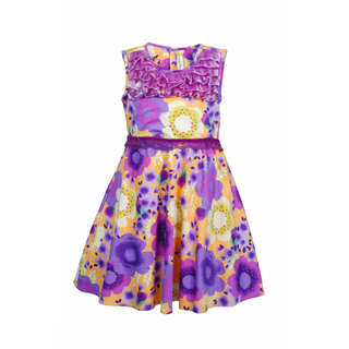 Euphoria Party wear Purple Print Dress