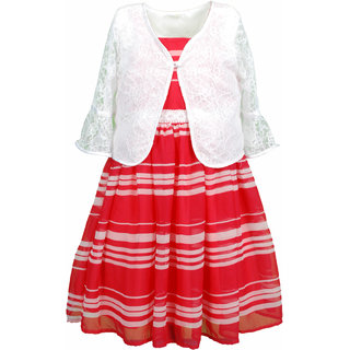 Euphoria Party wear Bright Pink/White Dress
