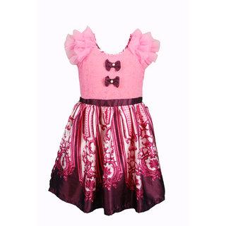 Euphoria Party wear Pink Print Dress