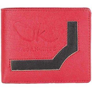 Vagan-kate upper design red leather wallet for men