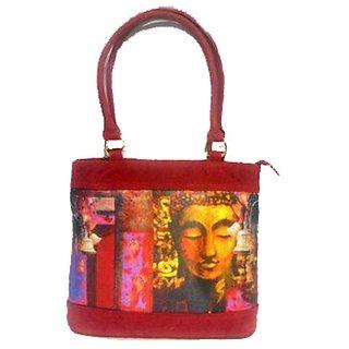 Maison digital print handbag