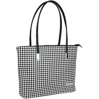 Lino Perros Black,White Leatherite Handbag