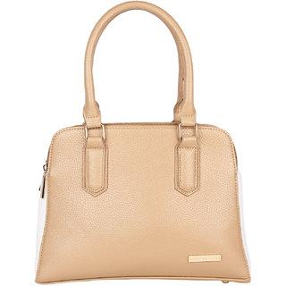 Lino Perros Appreciable Leatherite Beige Handbag