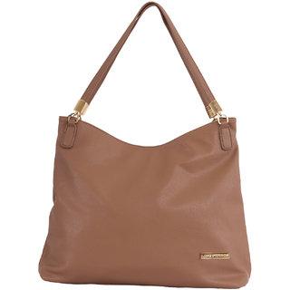 Lino Perros Transluscent Leatherite Beige Handbag