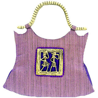 Maison Ethnic designer purple Handbag