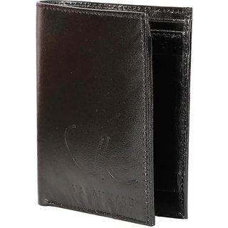 Vagan-kate leather Antique black wallet for men