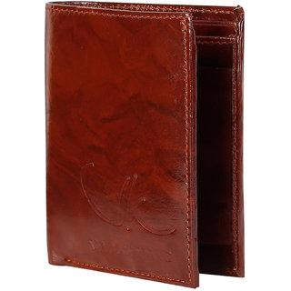 Vagan-kate leather Antique brown wallet for men