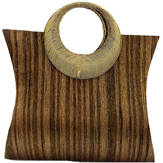 Maison Ethnic designer brown Handbag