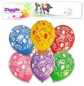 Ziggle birthday balloons multicolored balloon boy girl birthday party decoration