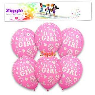 Buy Ziggle Birthday Girl Birthday Balloons Girl First Birthday