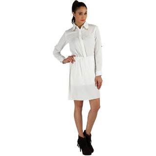 Vinegar Women's White Cotton Dress