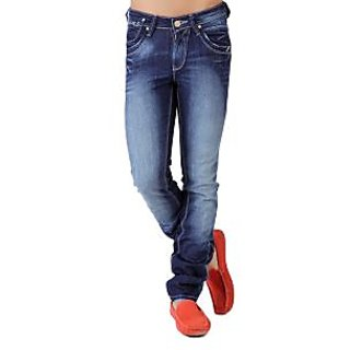 SEVENTH SIN-WASHED BLUE SLIM FIT JEANS