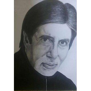 Handmade Pencil Art Of Amitabh Bachchan